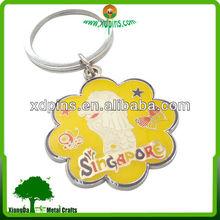 custom made lion city singapore tourist souvenir keychains