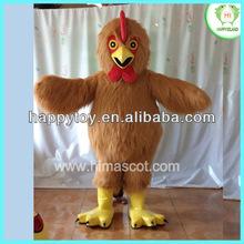 HI CE pretty chicken mascot costume,yellow chicken mascot costume