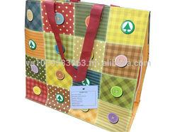 Recycled tubular PP woven shopping bag - ecobag