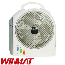 10''6v 9w lead-acid battery ac/dc operated rechargeable multifunctional emergency fan with led light lamp