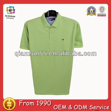 solid dry fit t-shirt manufacturers branded green blank polo t-shirt