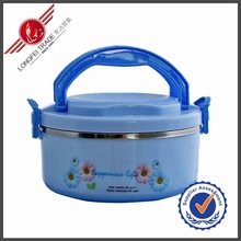 2014 New Product Plastic Hot Pot Lunch Box With Steel Inner/Insulation Materials For Lunch Box
