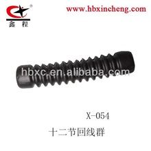 motorcycle cable part rubber part for clutch cable or brake cable rubber boot 12 steps hebei factory