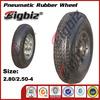 Mini rubber wheels ,4 inch stroller pneumatic rubber wheel 2.50-4