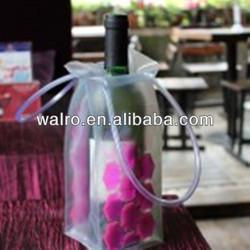 wine cooler plastic bag transperent pvc ice bag for Champagne
