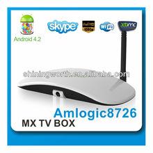 google android 4.4 tv box iptv set top box amlogic 8726 mx dual core tv box with web camera