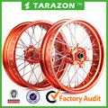 De alta- calidad del cnc de la aleación de aluminio de la motocicleta frente& trasero ruedas de radios