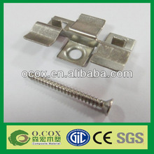 China Metal Clips Fasteners For WPC Deck Flooring