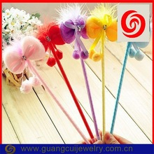 Fashion novelty pens for kids with feather