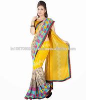 Pure Chiffon Saree | Function Wear Designer Saree | Indian Wedding Party Wear Sarees