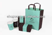 Coffee Brown Kraft Paper Bag Flat Handle