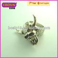La costumbre de la vendimia artículos a granel del cráneo anillos para el hombre joyería(7299)