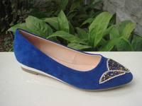 Low Heel Wholesale Diamonds Women Flats Pumps Casual Shoes