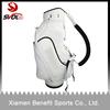 White custom made golf staff bag