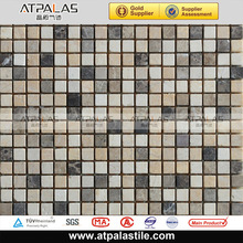 China wholesale cheap price good quality 300*300mm honed finished marble stone mosaic construction materials