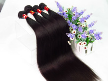 Cheap virgin Peruvian Natural straight black hair Pure Unprocessed Raw extension weft
