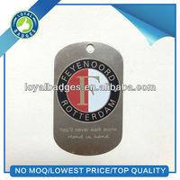 custom printed stainless steel dog tag