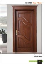 wooden door with criss-cross pattern