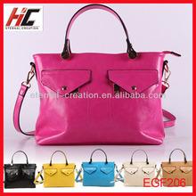 fashionable women leather bag trandy brand pu office bag