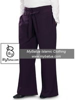 Siyana Purple Wide Islamic Pants, Wholesale Muslim Long Bottom, Regular and Plus Sizes AP-001