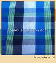 100%cotton yarn dyed checks fabric / men's clothing fabric