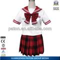 Uniforme de la escuela, nuevo diseño elegante de la muchacha uniforme de la escuela, falda de la escuela