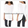 Ropa china, Corta de color blanco puro blusa casual, Blusa para mujer ( YDQ04105 )