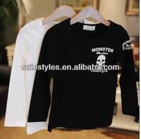 Fashion Casual Tops Long Sleeve T Shirt Children Activewear Boys Skull Printed Shirts Kids Clothing BT40319-2