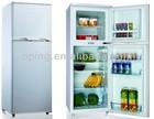 double door home use up freezer bottom fridge refrigerator with Light Lock Key BCD-132
