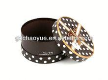 Luxury Silk Ribbon Cardboard Custom Gift blue velvet packaging box
