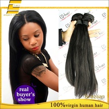 100% Real Virgin Natrual Stright Brazilian Hair Weaving