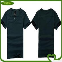 2014 Wholesale cotton V-neck high quality promotional blank men tshirt