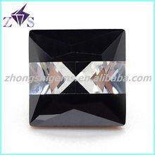 multicolor square aquamarine loose colored stone, cz