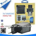Alta velocidad Usb cargador de viaje para samsung galaxy tablet