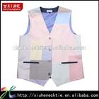 2014 Fashion splicing cotton men's casual waistcoat vest