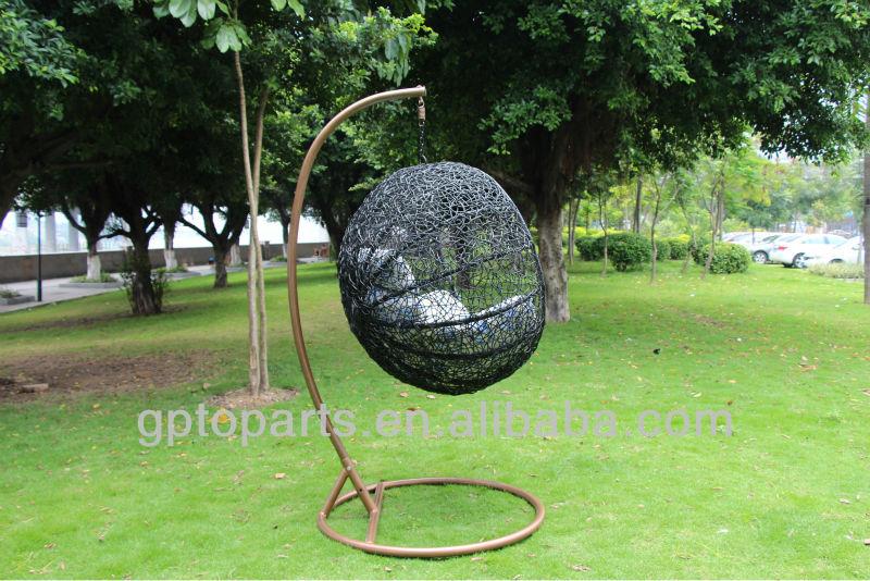 Fauteuil suspendu avec support oeuf chaise longue chaise - Oeuf suspendu jardin ...