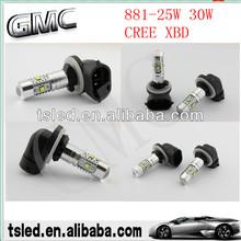 11w high power 880 881 led car lamp,led fog light car led room lamp
