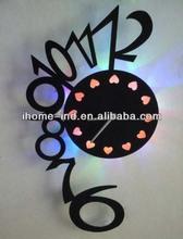 3d design led acrylic wall clock for decor