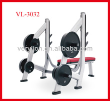 OLYMPIC BARBELL PIECE RACK FLAT OVEL STEEL PIPE COMMERCIAL GYM EQUIPMENT VL 3032
