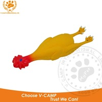 Chicken shaped chewing latex pet toy with squeaker