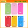 TPU Back Case with Credit Card Slot Case for iPhone 4 4S