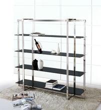 Steel libreria, a prova di fuoco scaffale in ferro, moderno in metallo e vetro mr-kqd111 scaffale