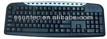 soft-touch keys keyboard with13 Hot Keys KM-300