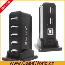 wholesale 7 port usb hub with external power supply/usb 1.1/2.0 hub