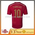 Novo design camisas da copa do mundo 2014 espanha home futebol jersey, roupas de alta qualidade por atacado
