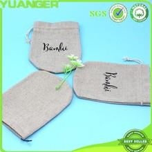 High quality recycle best sale hemp bags drawstring