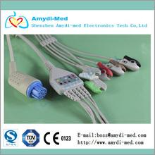 DATEX One piece series patient 5 lead EKG cable,AHA, 5Ld,Clip