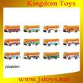 Venta al por mayor de juguete del coche/die cast coche/parque de coches/3 mini die cast+1 autobús de plástico
