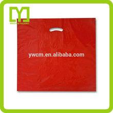 Yiwu China custom plastic die cut shopping bags