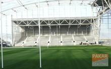 Rugby stadium grandstand bleacher tribunes
